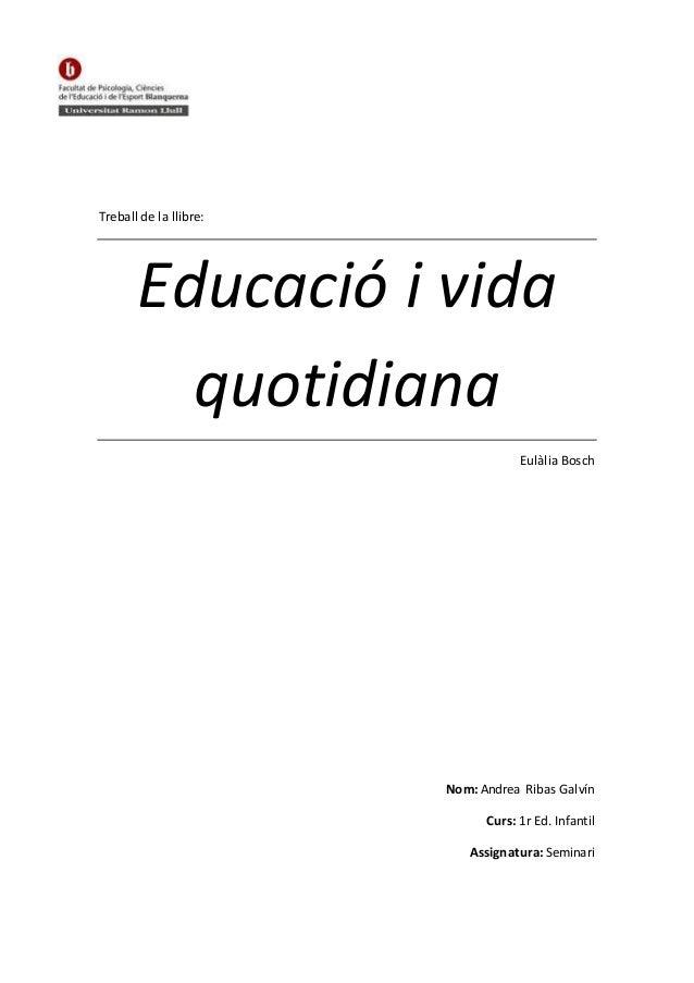 Educació i vida quotidiana