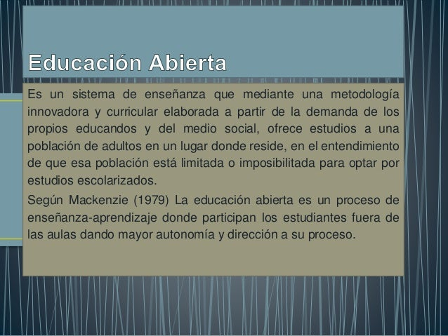 Es un sistema de enseñanza que mediante una metodología innovadora y curricular elaborada a partir de la demanda de los pr...