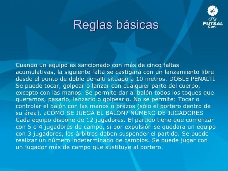 5 Reglas Del Futbol De Salon Of Educaci N F Sica Futbol Sala