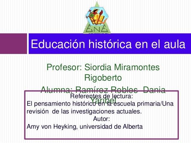 Educación histórica en el aula