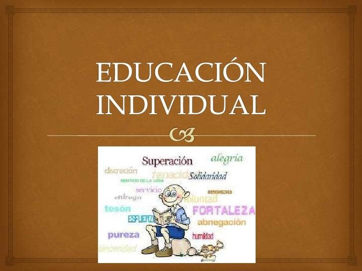 Educación individual