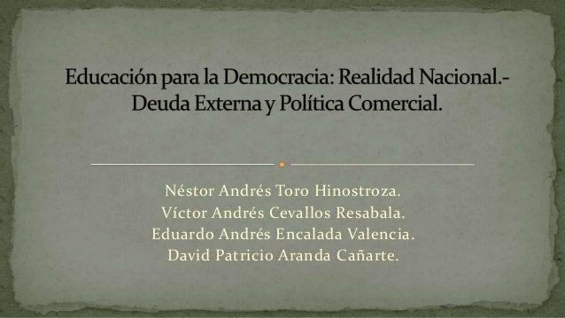 Historia de la Deuda Externa Ecuatoriana.