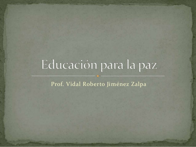 Prof. Vidal Roberto Jiménez Zalpa