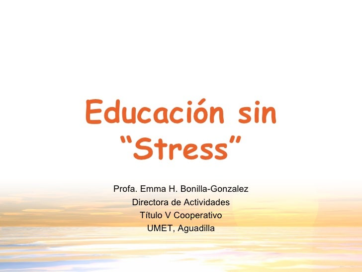 Educación Sin Stress
