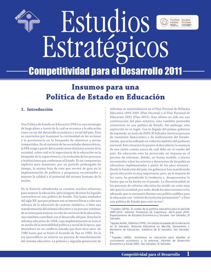 Estudios                S       A   DEF   US                       Estratégicos                    Competitividad para el ...