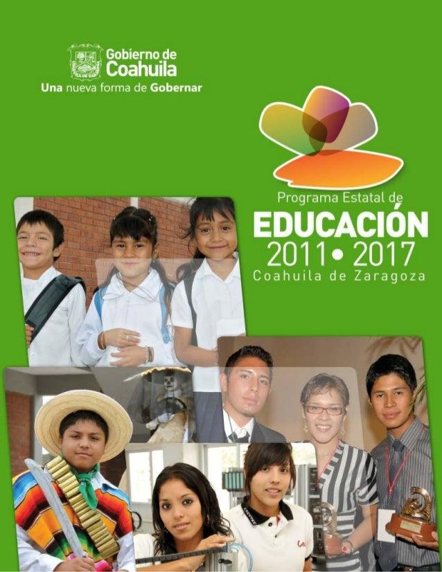 Programa Estatal deEDUCACIÓN   2011 2017