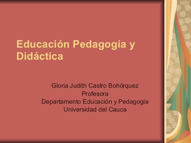 Educacion Pedagogia Didactica