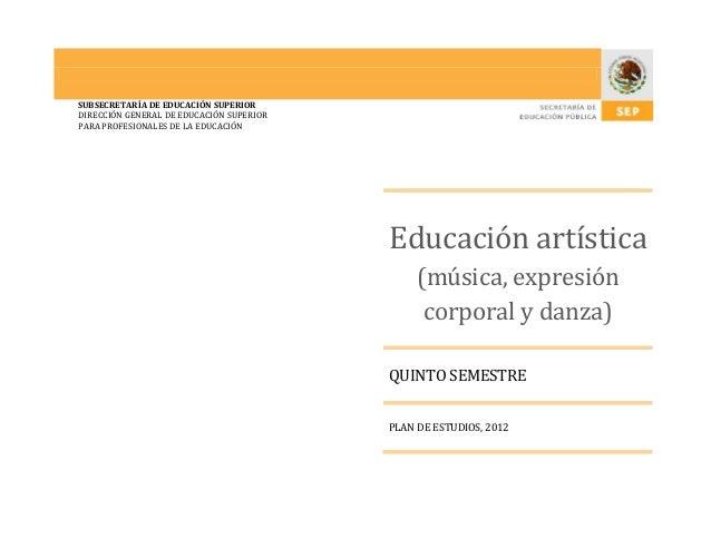 Educación Artística Preescolar