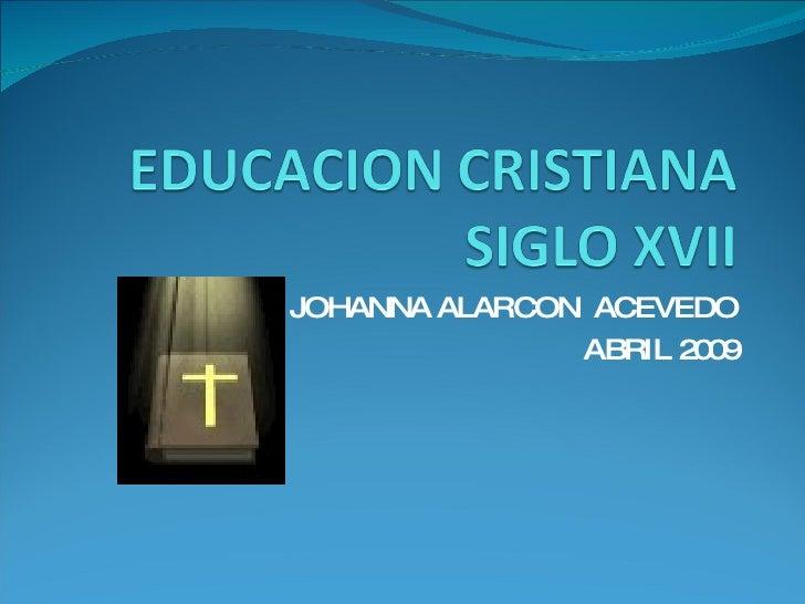 JOHANNA ALARCON  ACEVEDO ABRIL 2009