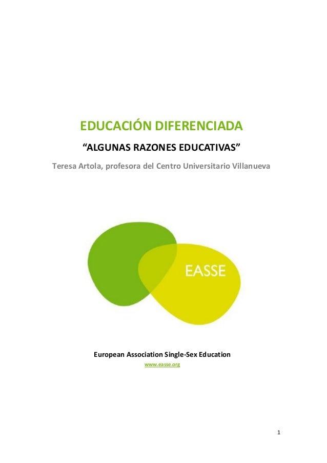 Educacion diferenciada, Teresa Artola