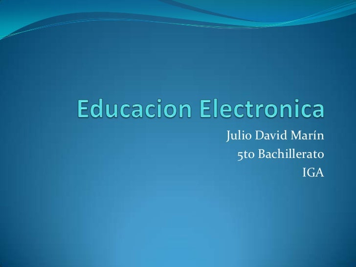 Julio David Marín  5to Bachillerato              IGA
