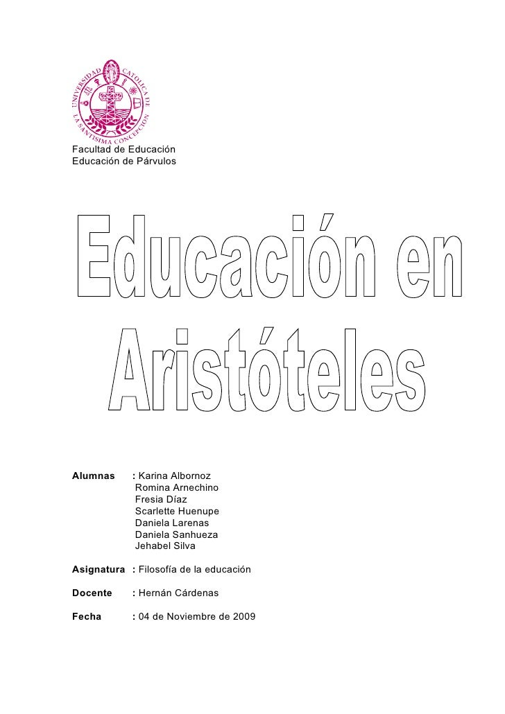 Facultad de Educación Educación de Párvulos     Alumnas     : Karina Albornoz              Romina Arnechino              F...