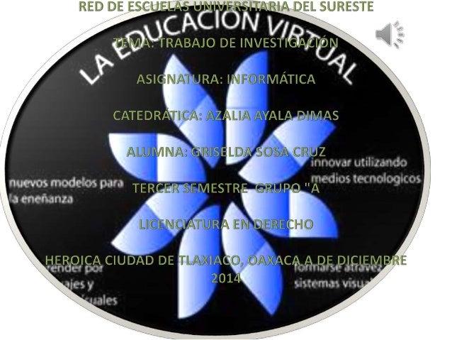 • EDUCACIÓN EN LÍNEA • ¿QUÉ ENTENDEMOS POR ESPACIO VIRTUAL EDUCATIVO? • UN ESPACIO VIRTUAL EDUCATIVO PUEDE SER • DISEÑO Y ...