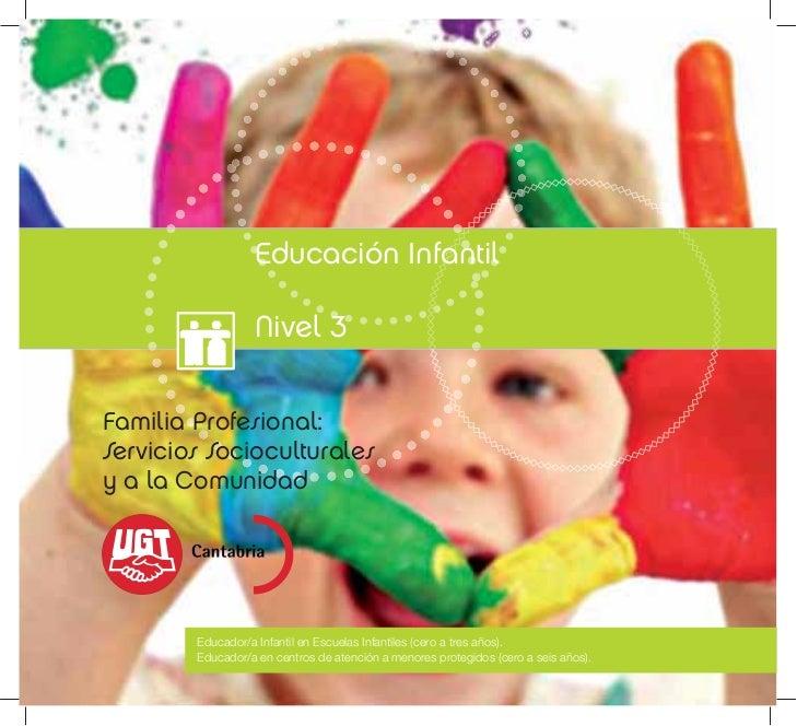 Educación Infantil                  Nivel 3Familia Profesional:Servicios Socioculturalesy a la Comunidad        Educador/a...