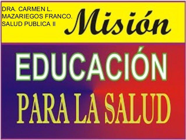 Educacion para la salud 2013