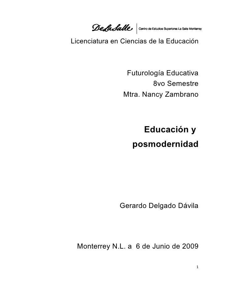 DistopiaEducacionposmoderna