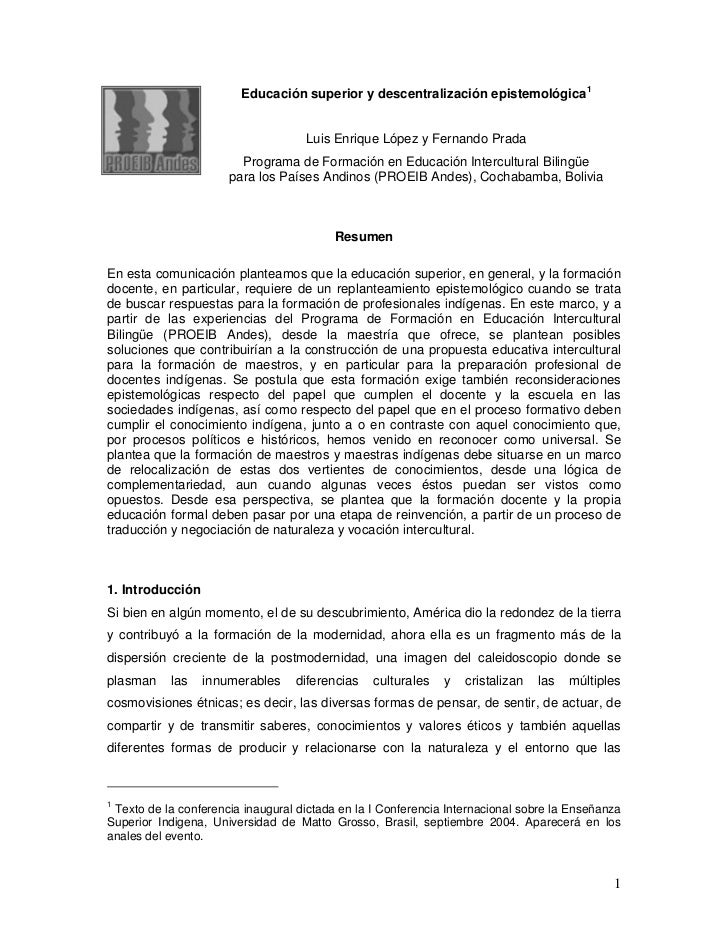 Educacionsuperiorydescentralizacionepistemologica