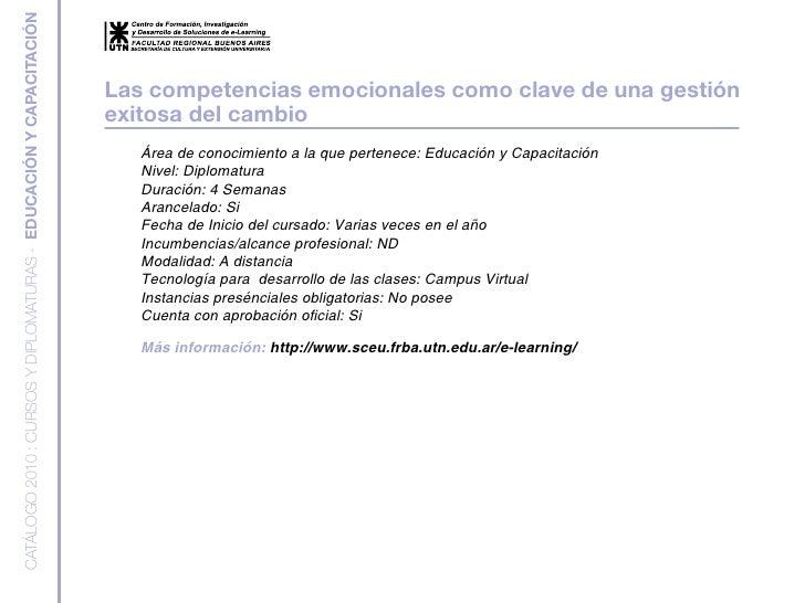 CATÁLOGO 2010 : CURSOS Y DIPLOMATURAS - EDUCACIÓN Y CAPACITACIÓN                                                          ...