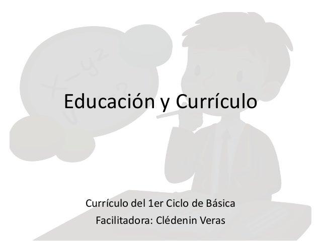 Educacion y curriculo