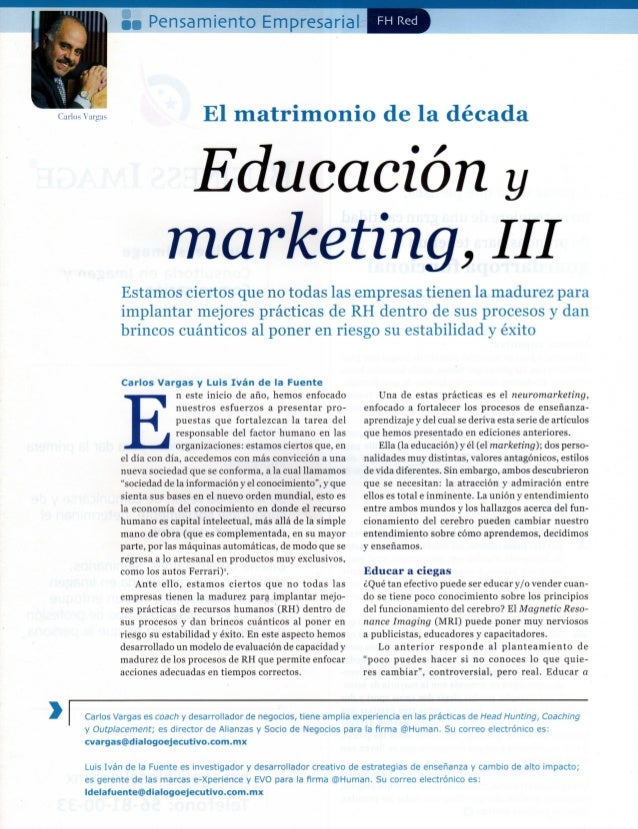 III Educación y Marketing TERCERA PARTE (3/5)