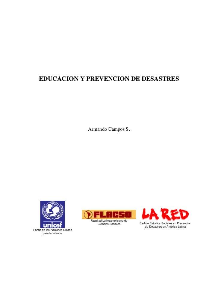 Educacion Y Prevencion De Desastres 1.0.1