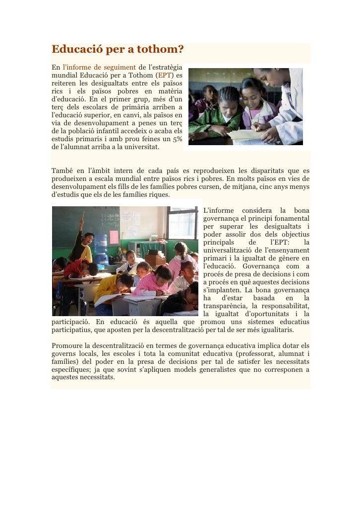Educació per tothom