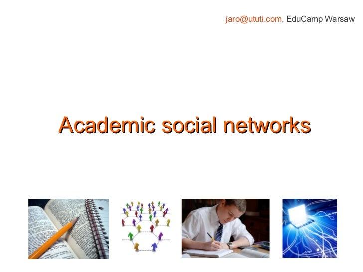 EduCamp - academic social networks