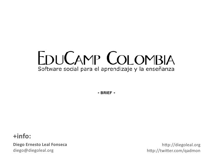 EduCamp  - Brief