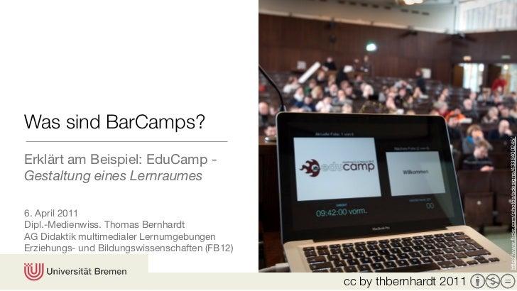 Was sind BarCamps? - Erklärt am Beispiel: EduCamp | Gestaltung eines Lernraumes