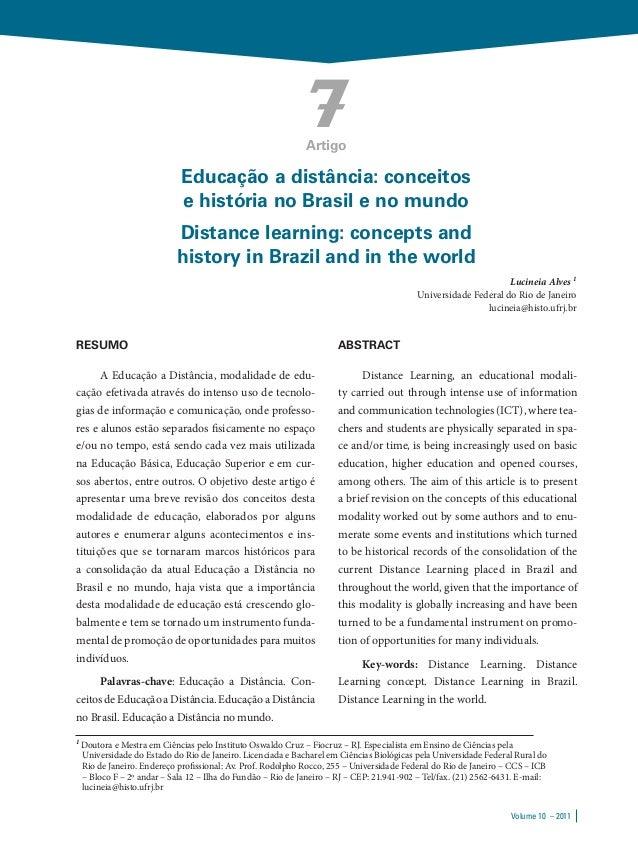 7                                                              Artigo                              Educação a distância: c...