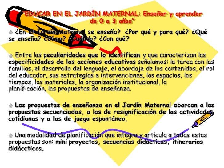 Educar en el jard n maternal for Diseno curricular de jardin maternal