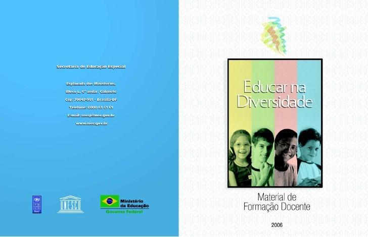 Educar na diversidade II