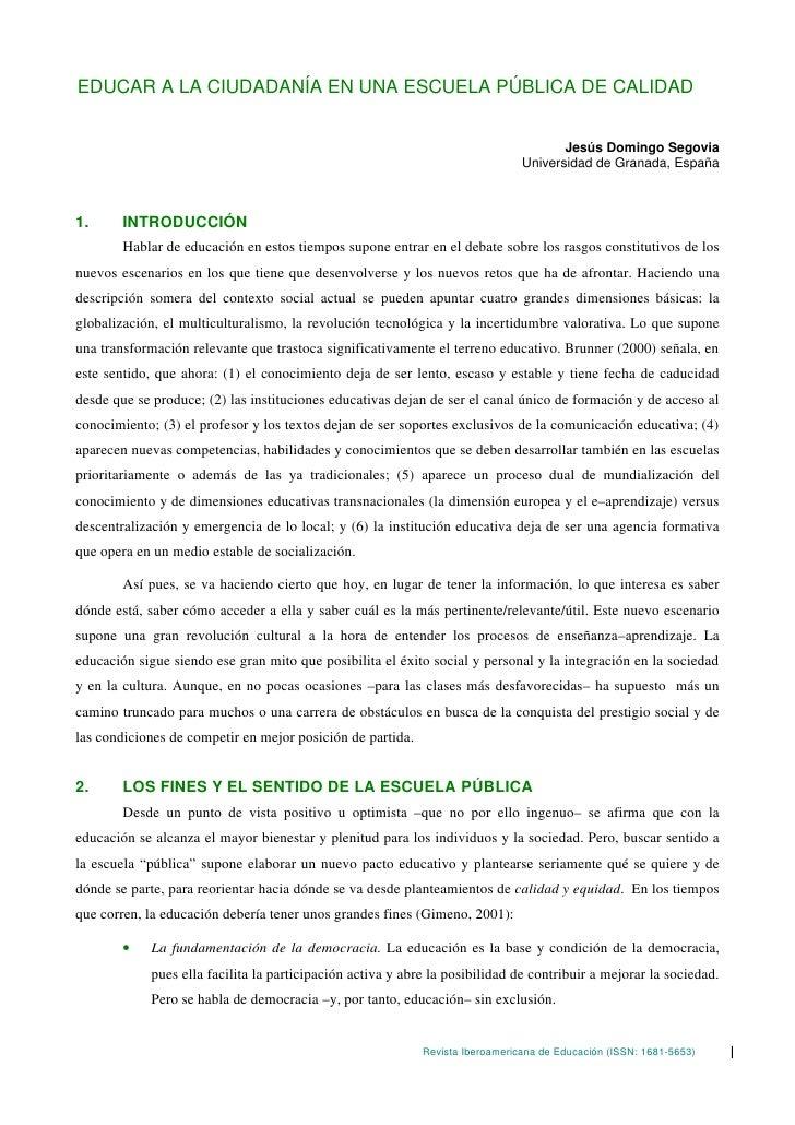 EDUCAR A LA CIUDADANÍA EN UNA ESCUELA PÚBLICA DE CALIDAD                                                                  ...