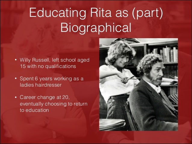 educating rita essay education 1 educating rita essay genetics and tay-sachs - 1771 words arise as professionals we need to be able to overcome our own beliefs and values to provide every patient with evidence and education to make the decision that is best for them.