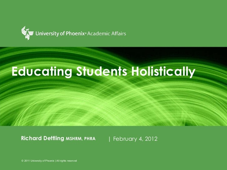 Educating students holistically