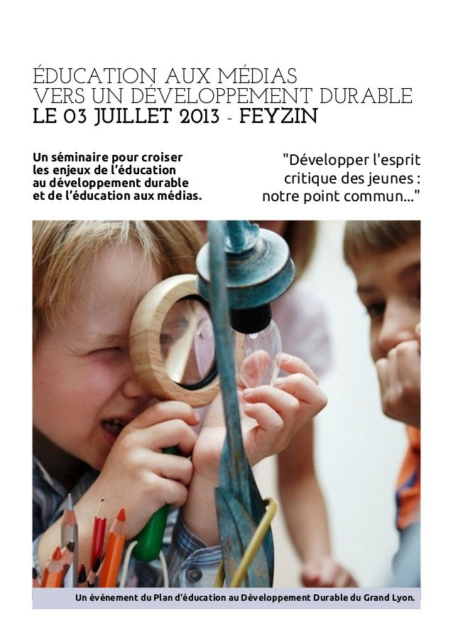 Education aux-medias-vers-un-developpement-durable programme-seminaire_03-juillet-2013