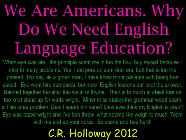 Education -english classes our a waist-tea party edition