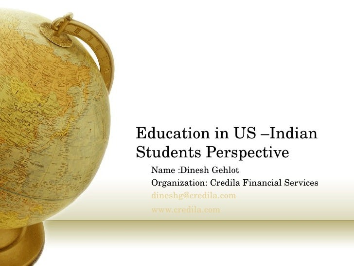 Education In Us –Indian Students Perspective