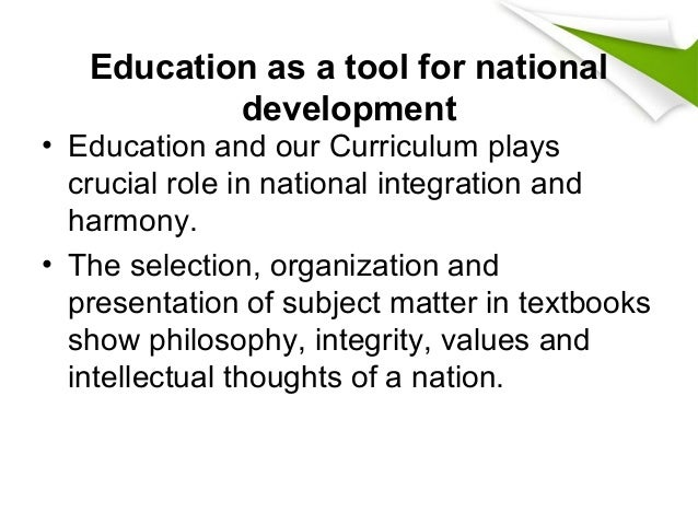 students role in national development Teachers' role in quality enhancement and value education dr anita pathania well as role of values in the development of society in.