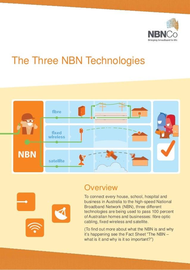 Technology Fact Sheet: National Broadband Network