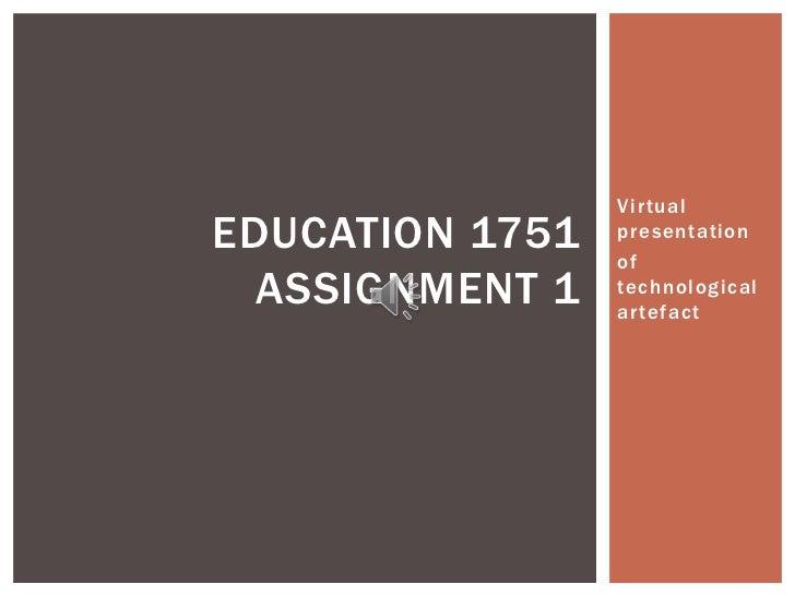 Education 1751 presentation