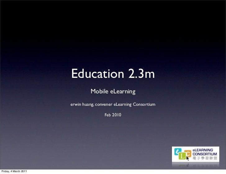 Education 2.3 m erwin