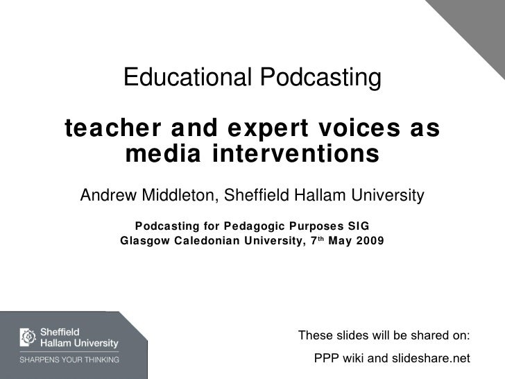 Educational Podcasting: Teachers And Experts