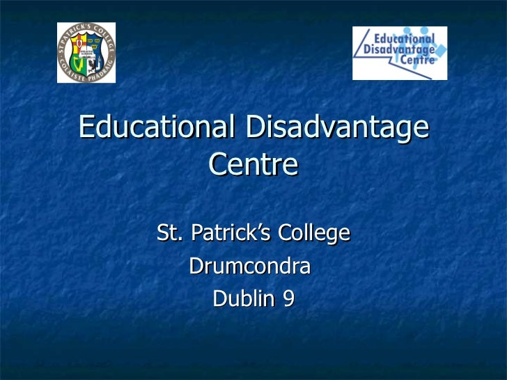 Educational disadvantage centre presentation for oed