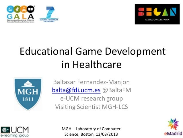Educational game development in healthcare
