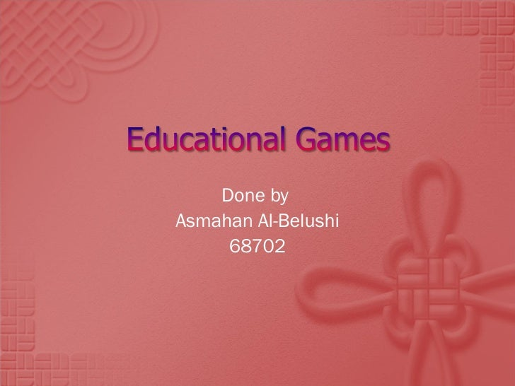 Done by  Asmahan Al-Belushi 68702