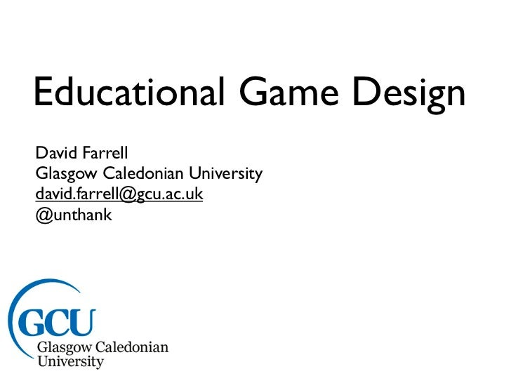 Educational games overview