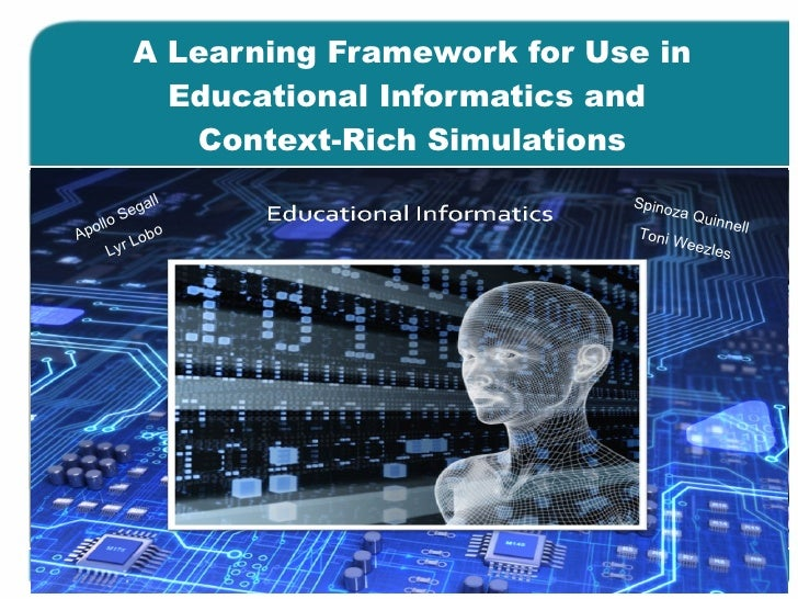 A Learning Framework for Use in Educational Informatics and  Context-Rich Simulations Apollo Segall Spinoza Quinnell Toni ...