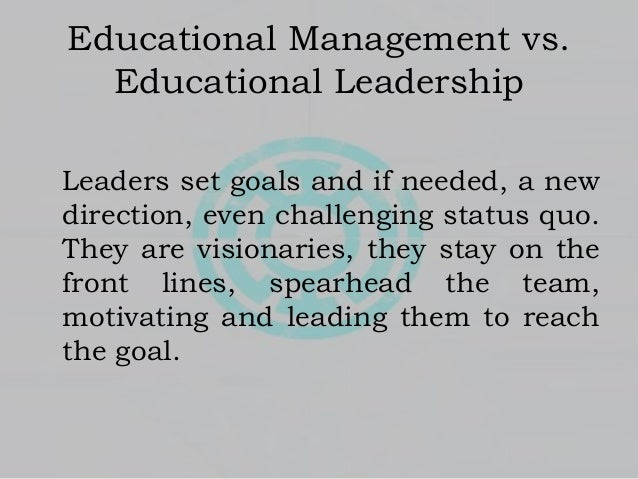 What to discuss in leadership and management?