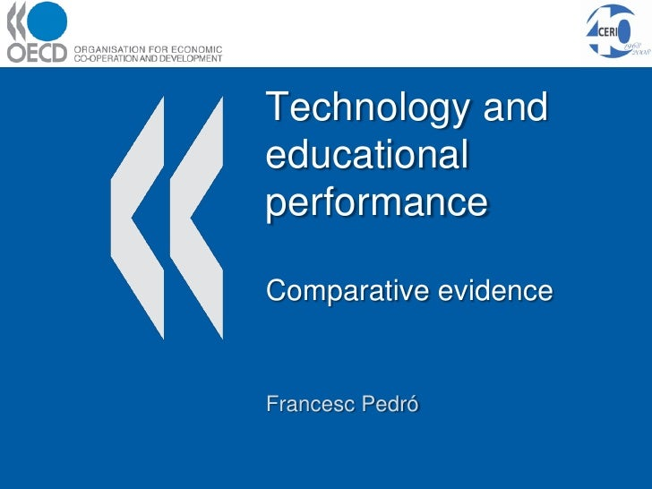 Technology use and educational performance